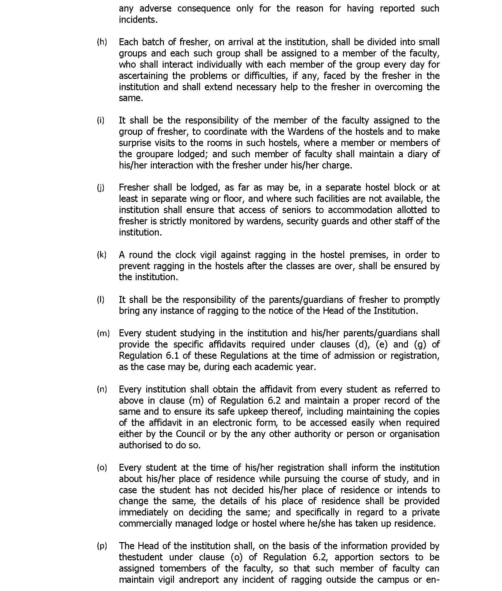 Anti-Ragging Regultions – IHM PUSA